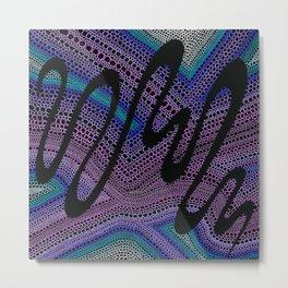 Trippy Circle Swirl - Abstract Art Metal Print