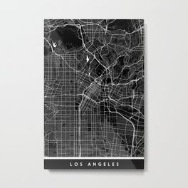 Los Angeles - Minimalist City Map Metal Print