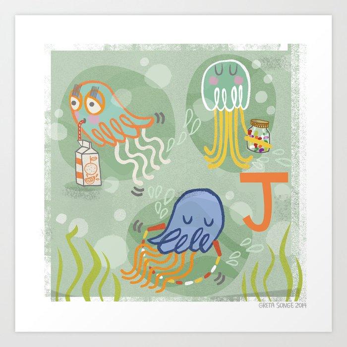 """J"" Art Print"