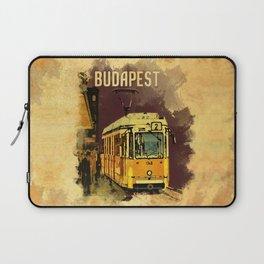 Retro Tram 2 in Budapest Laptop Sleeve
