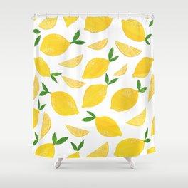 Lemon Cut Out Pattern Shower Curtain