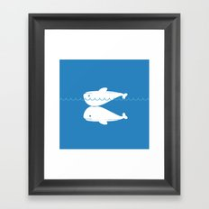 Whale resuscitation Framed Art Print