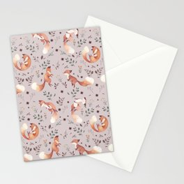 Fox pattern Stationery Cards