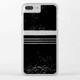 abstract black and white Clear iPhone Case
