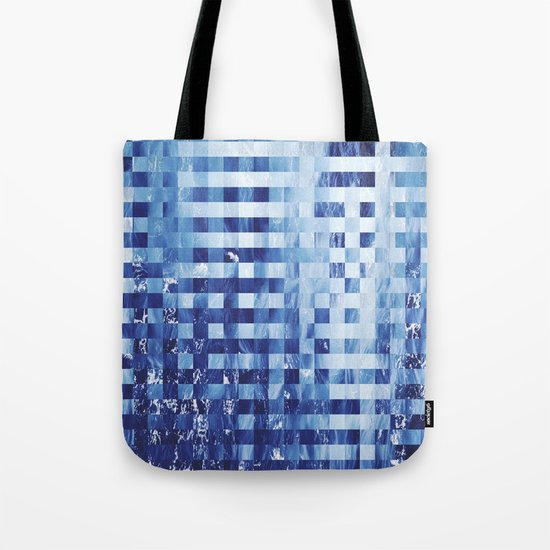 Nautical pixel abstract pattern Tote Bag