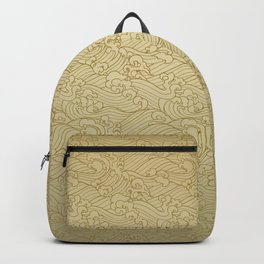 Golden Waves in Golden Backpack