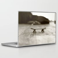 skateboard Laptop & iPad Skins featuring Finger Skateboard by Evi Radauscher