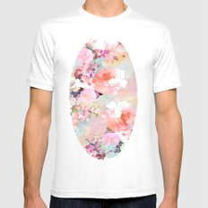 Love of a Flower White MEDIUM Mens Fitted Tee