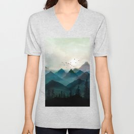 Mountain Sunrise II Unisex V-Neck