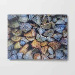 Chopped Blocks Metal Print