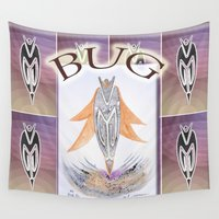 bug Wall Tapestries featuring BUG by CrismanArt