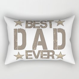 Best Dad Ever Father's Day Gift Rectangular Pillow