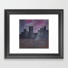 Skyline Sunset Framed Art Print