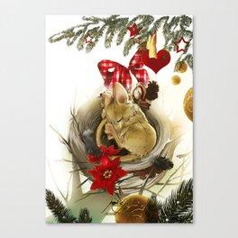 Souris de Noël (Christmas Mouse) Canvas Print