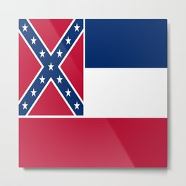 Flag of mississippi-flag of mississippi,south,Mississippian,usa, america,jackson,gulfport,Southaven Metal Print