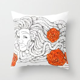 R O S E Throw Pillow