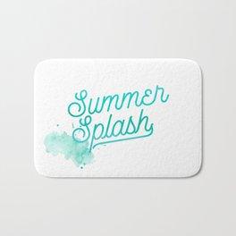 Summer splash - Typography - Holiday Beach Maritime Fun Water Bath Mat