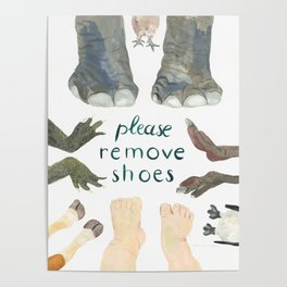 Please remove shoes Poster