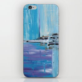 Light Blue Abstract iPhone Skin