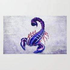 Purple scorpion Rug