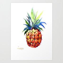 Pineapple, pina-colada, pineapple kitchen tropical design Art Print