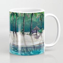 Honeymoon Beach Palm Coffee Mug