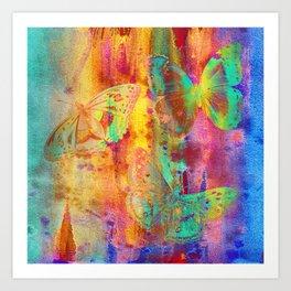 Colorful Butterfles Q Art Print
