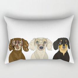 Triple Doxies Rectangular Pillow