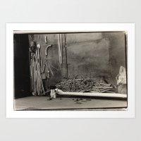 Abstract Pipes  Art Print
