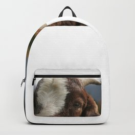 Look who's complaining, funny goat photo Backpack