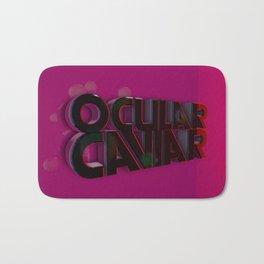 Ocular Caviar Logo Bath Mat
