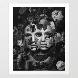 Your Facade Can't Disguise Art Print