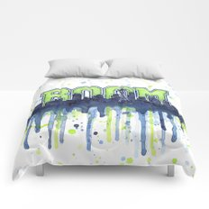 Seattle 12th Man Seahawks Painting Legion of Boom Art Comforters