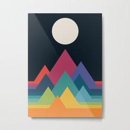 Whimsical Mountains Metal Print