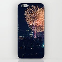 Fireworks in the City (Color) iPhone Skin