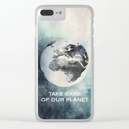 Take care of our planet #2 Clear iPhone Case
