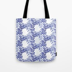 Delicate watercolor pattern with leaves Tote Bag