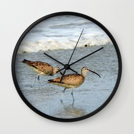 Walking the Beach With My Love Wall Clock