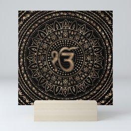 Ek Onkar / Ik Onkar Black and Gold #1 Mini Art Print