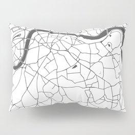 London White on Gray Street Map Pillow Sham