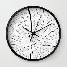 Woody white Wall Clock