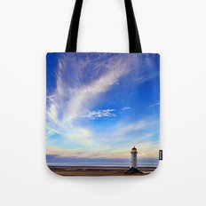 Lighthouse in Blue Tote Bag