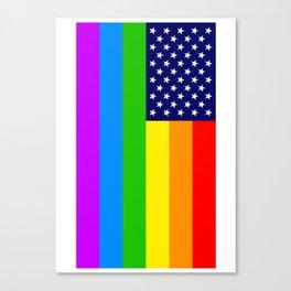 Gay USA Rainbow Flag - American LGBT Stars and Stripes Canvas Print