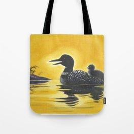 Loon on Lake Simcoe Tote Bag