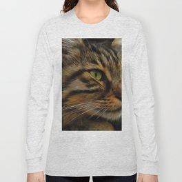 Aslan The Long Haired Tabby Cat Long Sleeve T-shirt