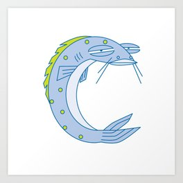 Uppercase C, no border Art Print