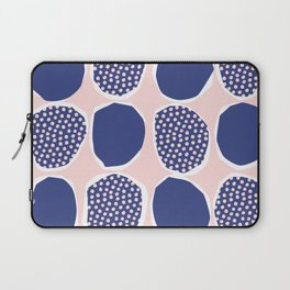Polka Collage Pattern - Pink and Blue Laptop Sleeve