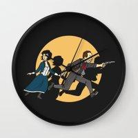 tintin Wall Clocks featuring TinTinfinite by Moysche Designs