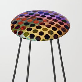 MELANGE of VIOLET and RUST Counter Stool