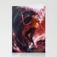 percy jackson Stationery Cards featuring Dark Percy by k1216